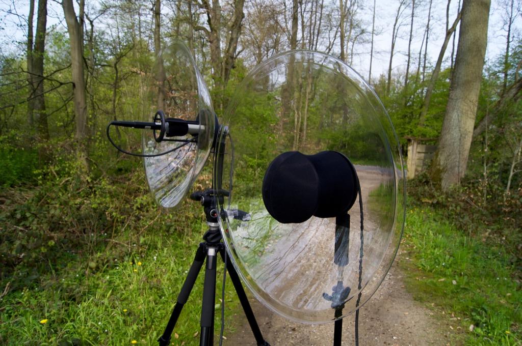Wildtronics All Purpose u. Pro Mono-Stereo Parabolic Microphone (v.l.n.r.)