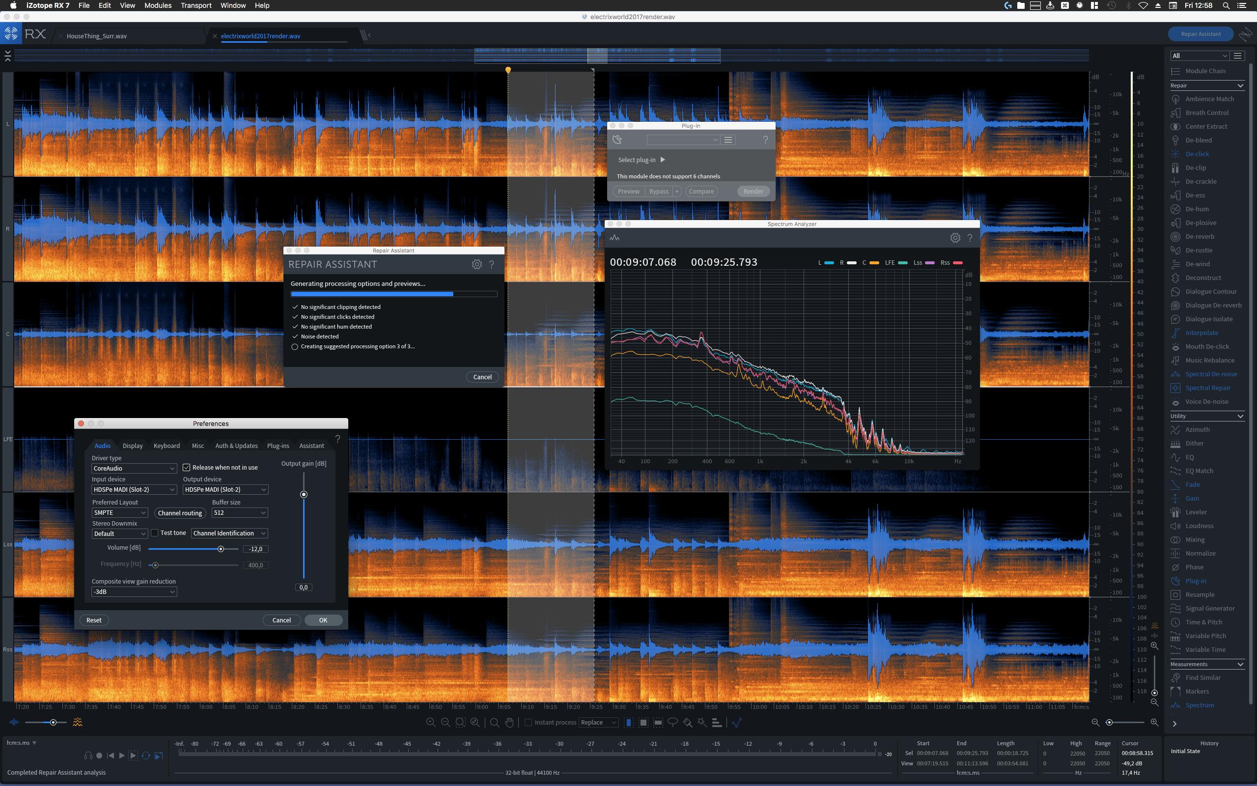 Review: iZotope RX 7 Advanced - FieldRecording de