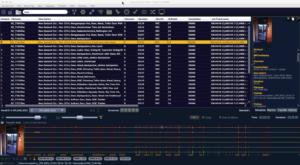 Soundminer HD Plus Oberfläche mit einer sechskanaligen Tonaufnahme